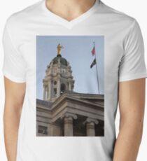 #famous #place, #international #landmark, Bunker Hill Monument, Dock Square, USA, #american culture, statue, dome, spire, architecture Men's V-Neck T-Shirt