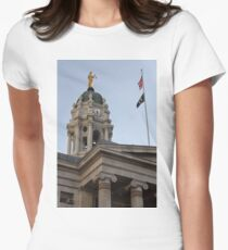 #famous #place, #international #landmark, Bunker Hill Monument, Dock Square, USA, #american culture, statue, dome, spire, architecture Women's Fitted T-Shirt