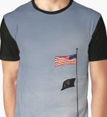 #flag, architecture, #patriotism, city, outdoors, #sky, #sculpture, statue, #government Graphic T-Shirt