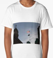 #flag, architecture, #patriotism, city, outdoors, #sky, #sculpture, statue, #government Long T-Shirt