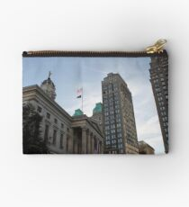 #architecture, #city, outdoors, office, #sky, #skyscraper, business, finance, #tower Zipper Pouch