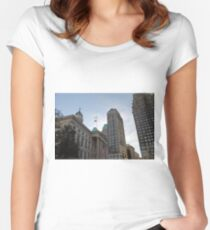 #architecture, #city, outdoors, office, #sky, #skyscraper, business, finance, #tower Women's Fitted Scoop T-Shirt