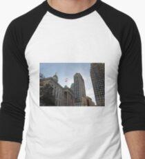 #architecture, #city, outdoors, office, #sky, #skyscraper, business, finance, #tower Men's Baseball ¾ T-Shirt