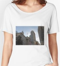 #architecture, #city, outdoors, office, #sky, #skyscraper, business, finance, #tower Women's Relaxed Fit T-Shirt