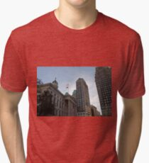 #architecture, #city, outdoors, office, #sky, #skyscraper, business, finance, #tower Tri-blend T-Shirt