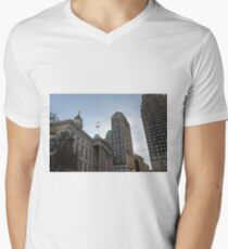 #architecture, #city, outdoors, office, #sky, #skyscraper, business, finance, #tower Men's V-Neck T-Shirt