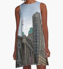 #architecture, #city, outdoors, office, #sky, #skyscraper, business, finance, #tower A-Line Dress