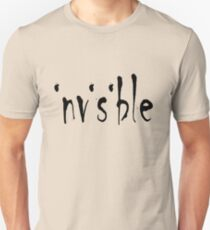 Invisible Typography Design For Chronic Illness Slim Fit T-Shirt