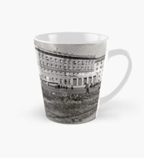 #Norilsk, #Norillag, black and white, #history, #people, group, adult, street, built structure, monochrome, #photography, residential building Tall Mug