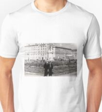#Norilsk, #Norillag, black and white, #history, #people, group, adult, street, built structure, monochrome, #photography, residential building Unisex T-Shirt