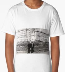 #Norilsk, #Norillag, black and white, #history, #people, group, adult, street, built structure, monochrome, #photography, residential building Long T-Shirt