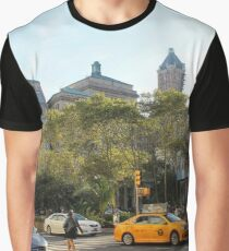 #car, #street, #city, #road, #travel, traffic, architecture, outdoors, modern, town Graphic T-Shirt