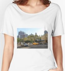 #car, #street, #city, #road, #travel, traffic, architecture, outdoors, modern, town Relaxed Fit T-Shirt