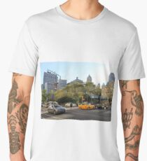 #car, #street, #city, #road, #travel, traffic, architecture, outdoors, modern, town Men's Premium T-Shirt