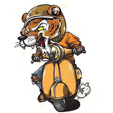 Scooter Tiger by sandman2016
