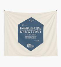 Tela decorativa Citas de: Albert Einstein en Imaginación - Cartel, camiseta, adhesivo y regalos