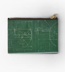 #Classroom, #Physics, #Mathematics, #education, writing, #handwriting, formula, algebra, learning, studying, university Zipper Pouch