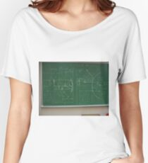 #Classroom, #Physics, #Mathematics, #education, writing, #handwriting, formula, algebra, learning, studying, university Women's Relaxed Fit T-Shirt