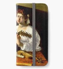 Michelangelo da Caravaggio - The Lute Player iPhone Wallet/Case/Skin