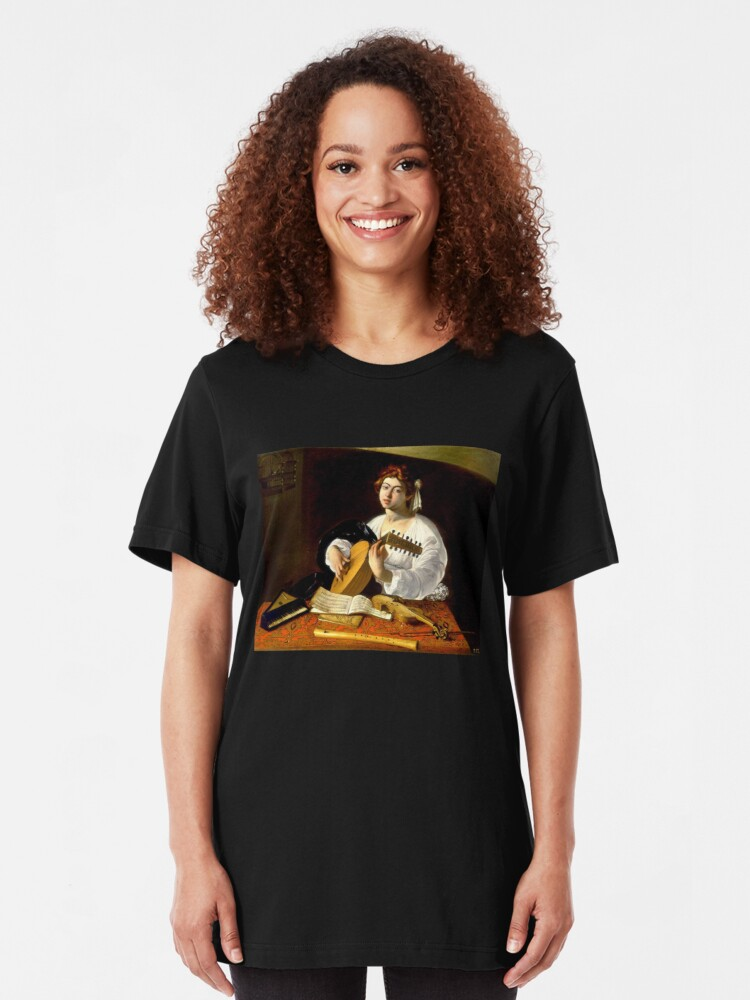 Alternate view of Michelangelo da Caravaggio - The Lute Player Slim Fit T-Shirt