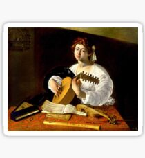 Michelangelo da Caravaggio - The Lute Player Sticker