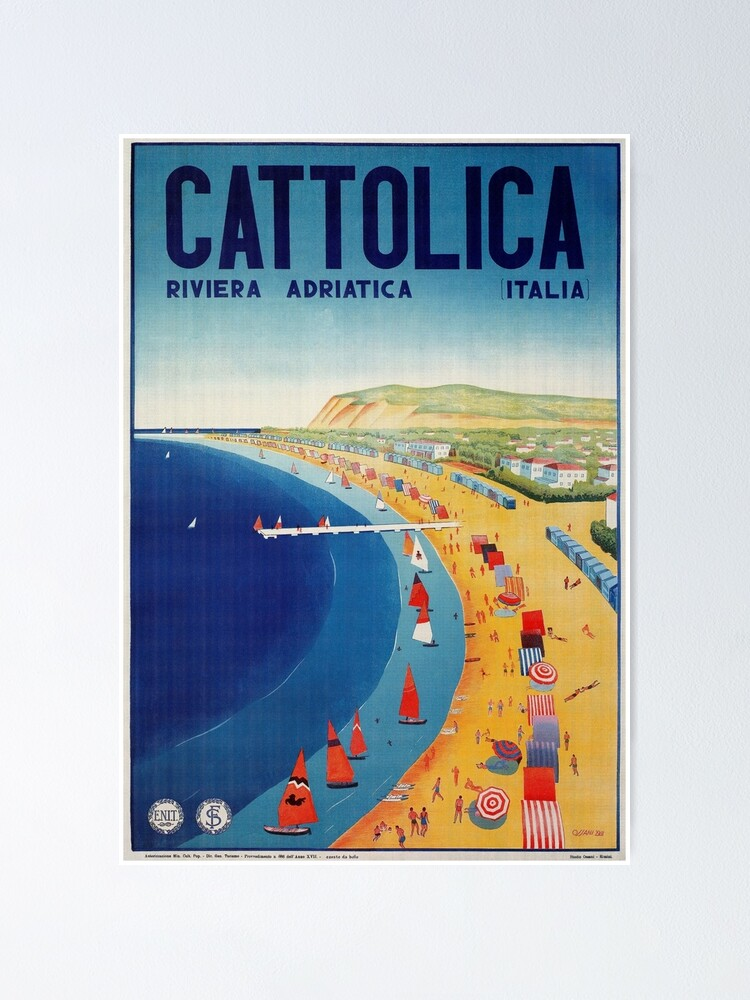 Cattolica Vintage Art Travel Advertisement Poster Picture Print
