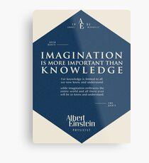 Lienzo metálico Citas de: Albert Einstein en Imaginación - Cartel, camiseta, adhesivo y regalos