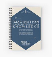 Cuaderno de espiral Citas de: Albert Einstein en Imaginación - Cartel, camiseta, adhesivo y regalos