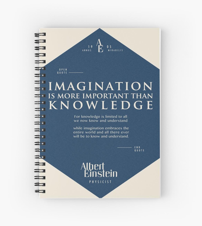 «Citas de: Albert Einstein en Imaginación - Cartel, camiseta, adhesivo y regalos» de tasnim-saadon