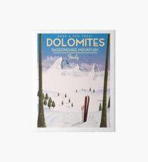 Dolomites Italy to ski Art Board Print