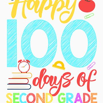 Happy 100 Days of Second Grade Shirt for Teacher or Child by orangepieces