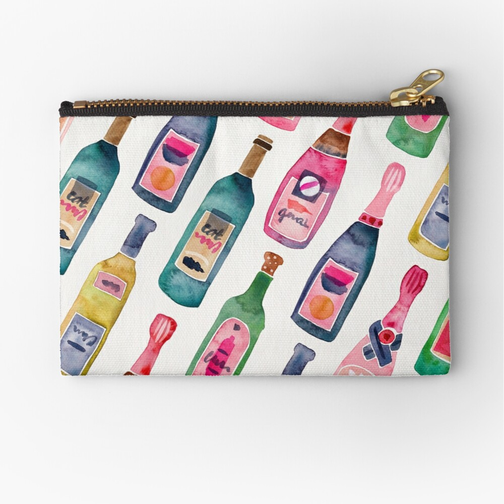 Champagne Collection Zipper Pouch