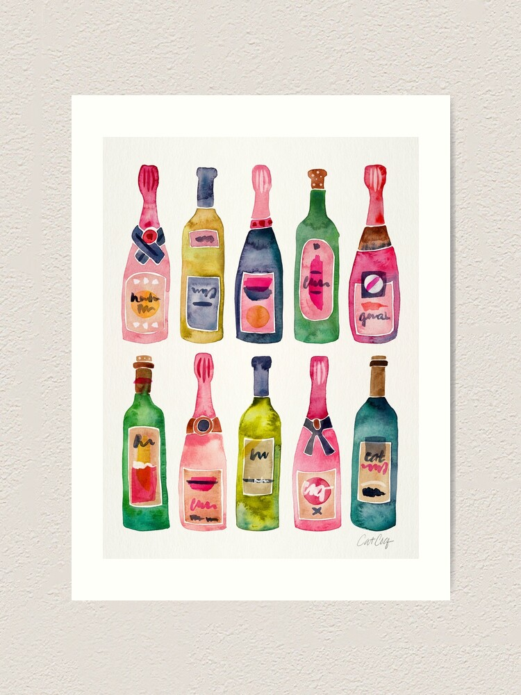 Alternate view of Champagne Collection Art Print