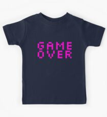 GAME OVER - Pink Retro Video Game Kids Tee
