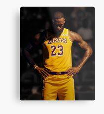 831a428aef67 Lebron Lakers Metal Print