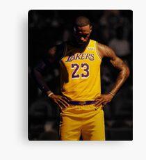 Lebron Lakers Leinwanddruck