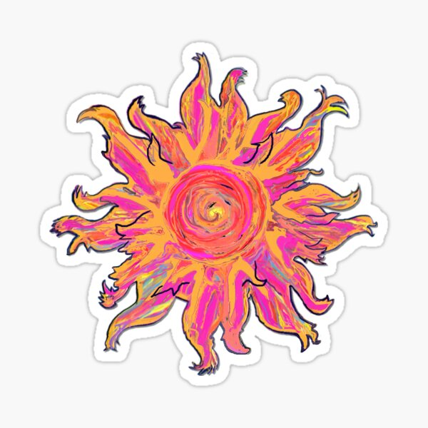 Alien Sun Sticker
