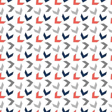 Random Arrows in Living Coral, Navy Blue and Grays by MelFischer