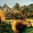 Elk Twighlight  by Scott  Nordstrom