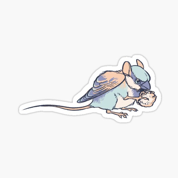 Trash Gryphons: Sparrow Mouse Sticker