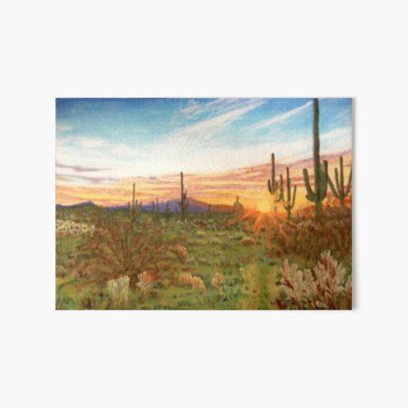 Pima County Sunset Art Board Print