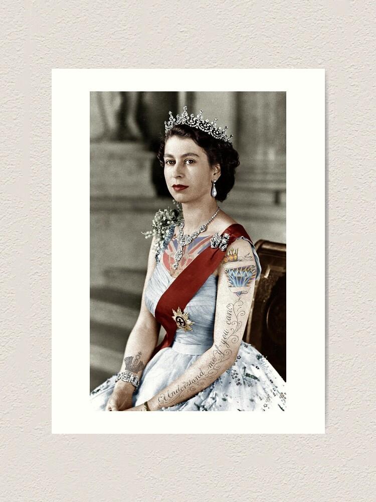 Alternate view of Tattoo Queen Art Print
