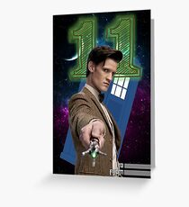 11th Doctor Greeting Card Greeting Card