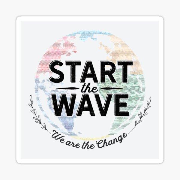 start the wave logo Sticker