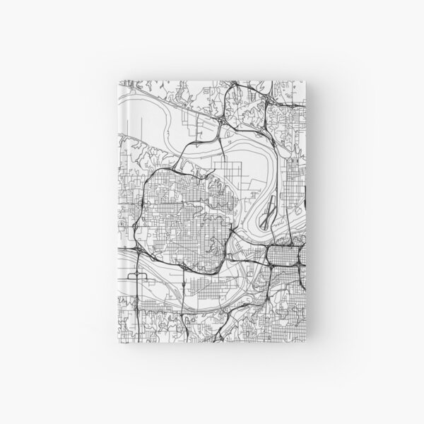 Kansas City map poster print wall art, Kansas gift printable, Home and Nursery, Modern map decor for office, Map Art, Map Gifts Hardcover Journal