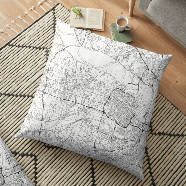 Kansas City map poster print wall art, Kansas gift printable, Home and Nursery, Modern map decor for office, Map Art, Map Gifts Floor Pillow
