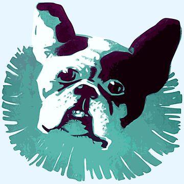 Retro Bulldog Face by realmatdesign