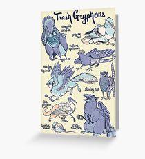 Tarjeta de felicitación Trash Gryphons: Colección