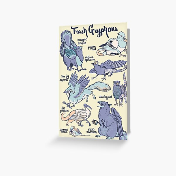 Trash Gryphons: Collection Greeting Card