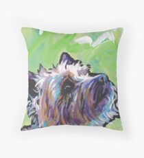 Cairn Terrier Dog Bright colorful pop dog art Throw Pillow